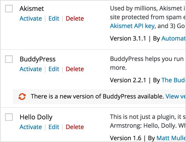 streamlined plugin updates