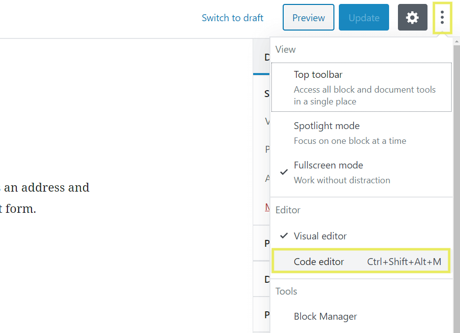 How to edit WordPress code.