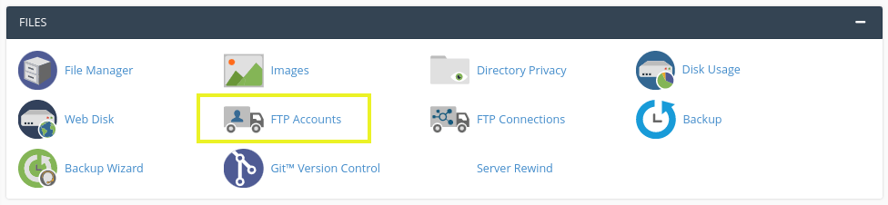 The FTP Accounts icon in cPanel.