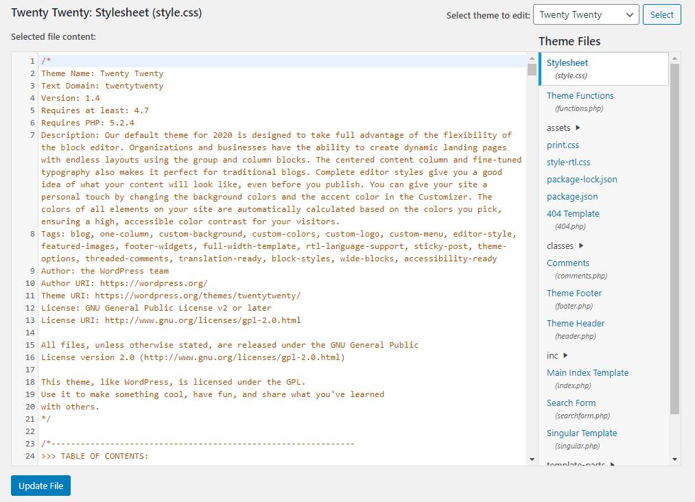 How To Edit Wordpress Source Code Html Css Php Javascript