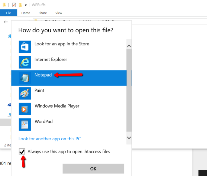 Notepad in Windows 10