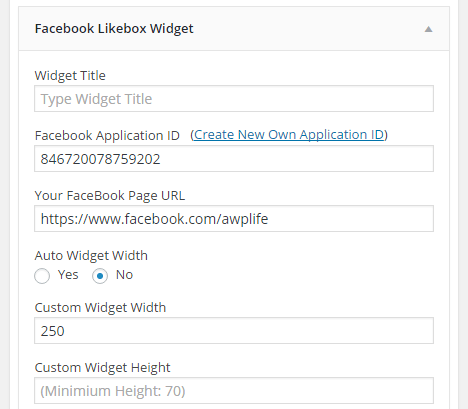 Facebook Likebox Widget