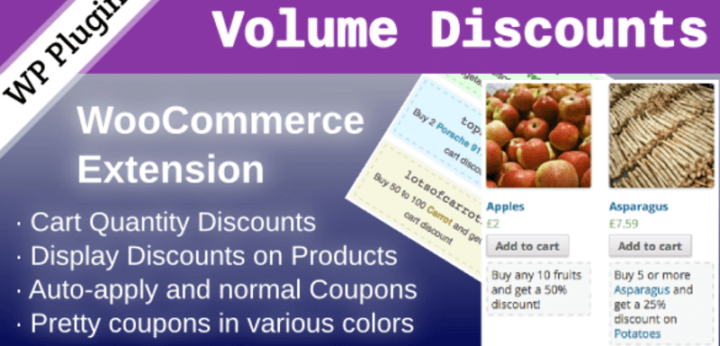 WordPress Coupon Plugins - WooCommerce Volume Discount Coupons