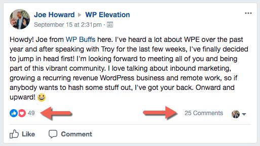 WP Elevation Facebook Group