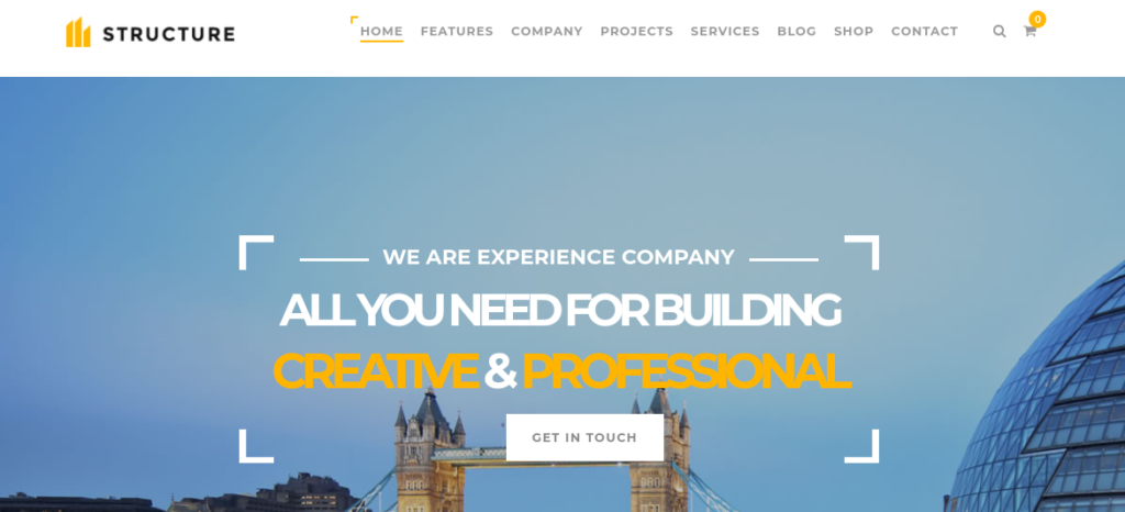 The Structure WordPress construction theme.