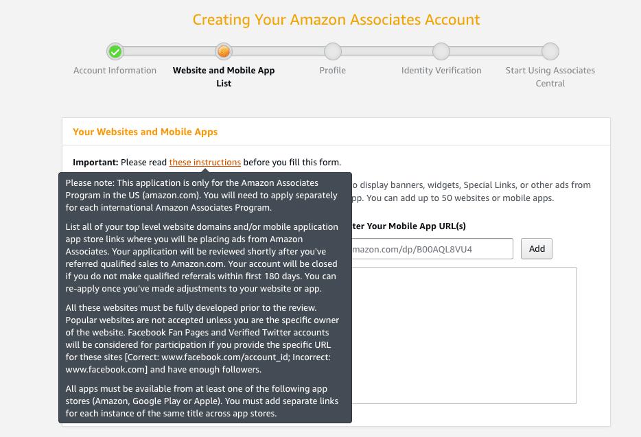 affiliate instructions
