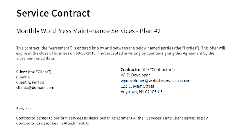 Contract - Basic Terms