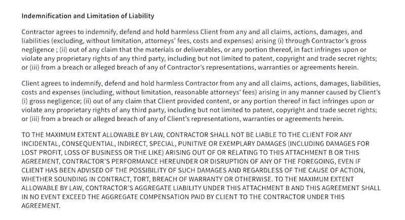 Contract - Liability
