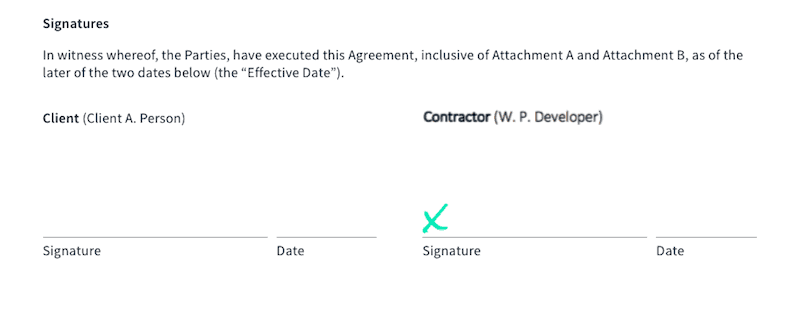 Contract - Signatures