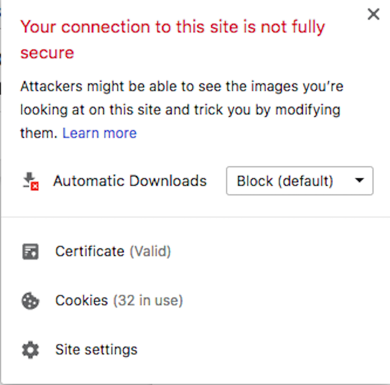 Problematic SSL Certificate