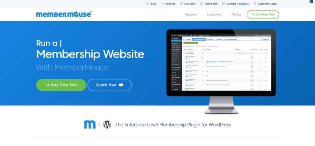The MemberMouse website.
