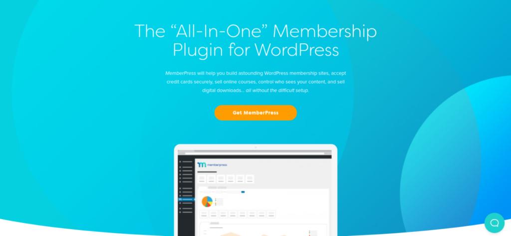 The MemberPress client portal plugin website.