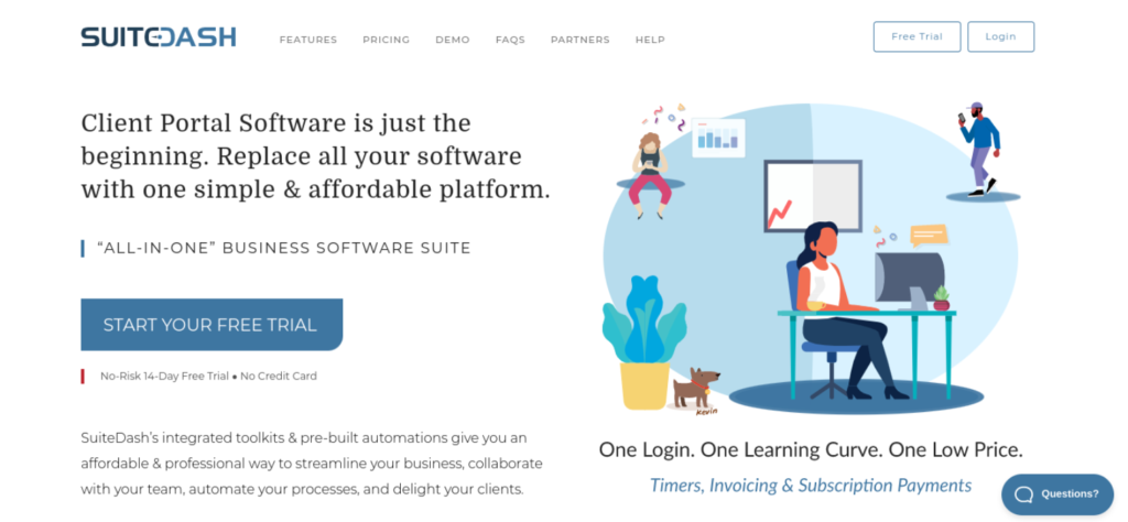 The SuiteDash website.