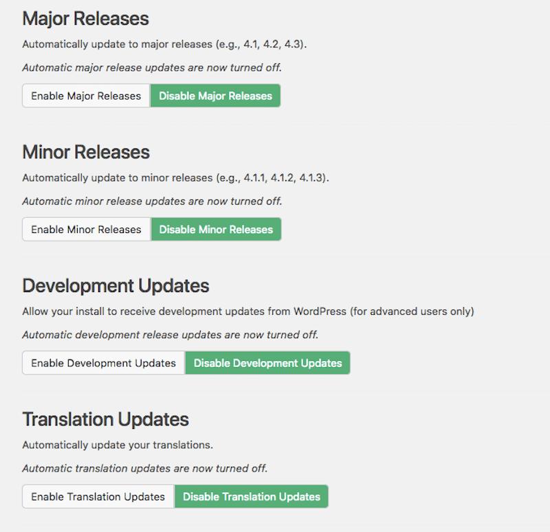 custom updates