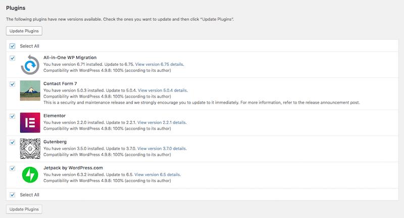 manual plugin updates