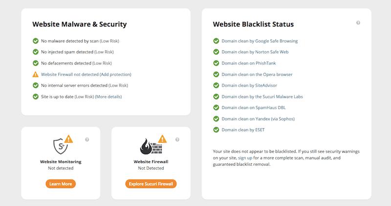 Sucuri malware & security