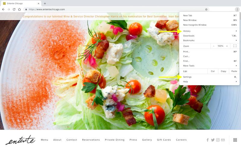 Chrome Browser Settings