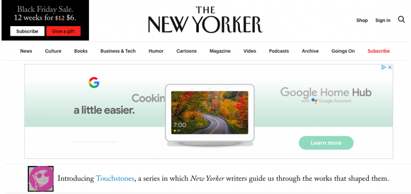 The New Yorker is powered by WordPress