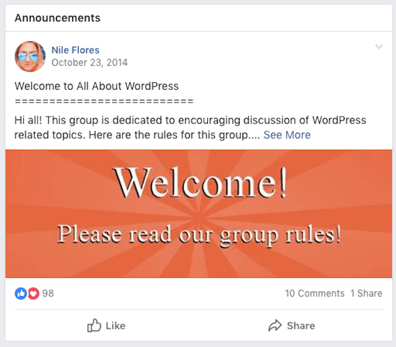 Pinned Announcement