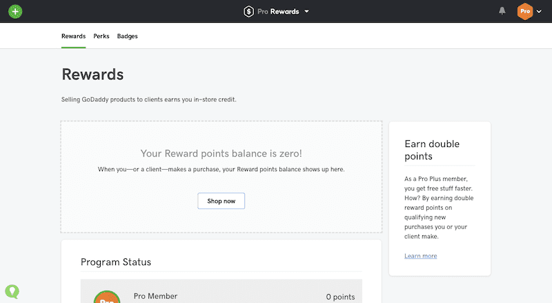 Pro Rewards Dashboard