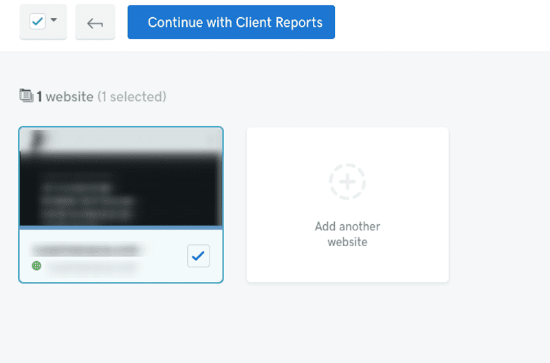 Select Client Reports