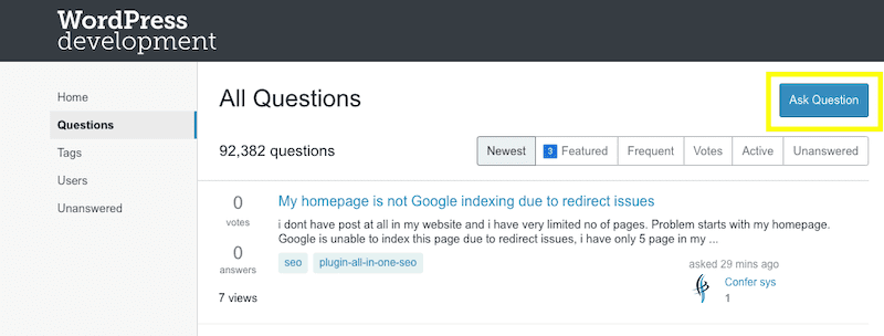 StackExchange Ask Question