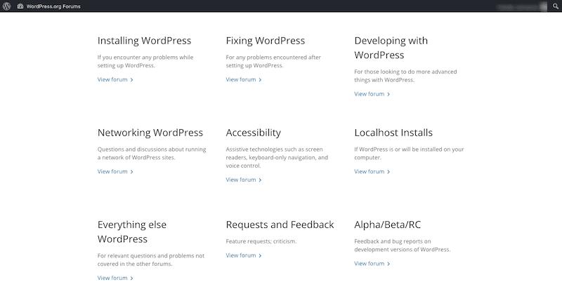 WordPress Forums