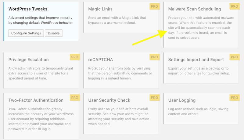 iThemes Malware Scan