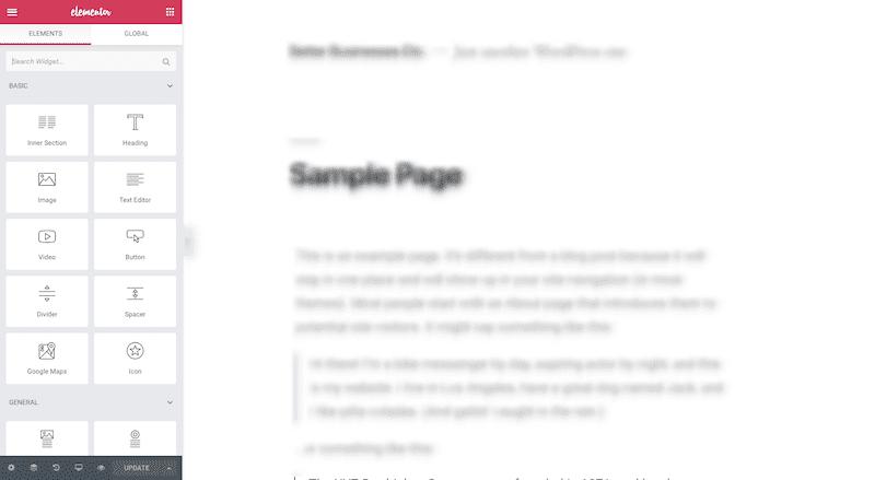 Elementor Interface - Widgets