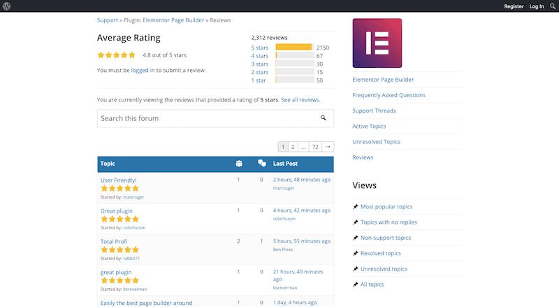 Elementor Reviews