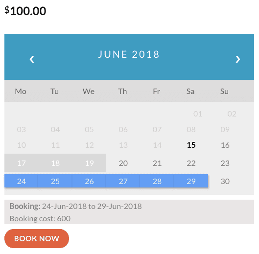 PH booking plugin 2
