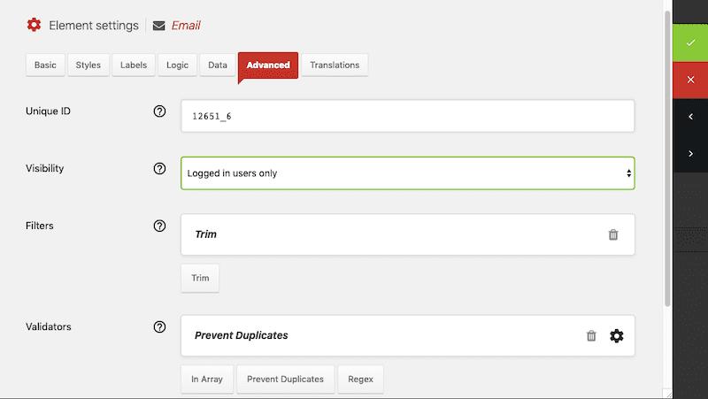 Quform Advanced Settings