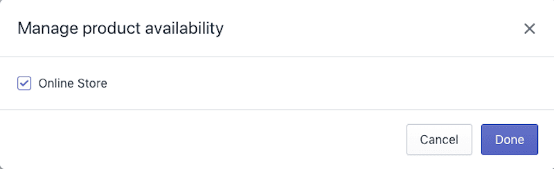 Shopify Product Availability