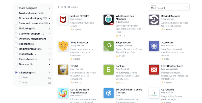 Shopify Security Apps