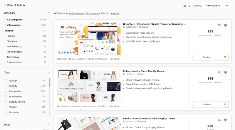 ThemeForest Shopify Themes