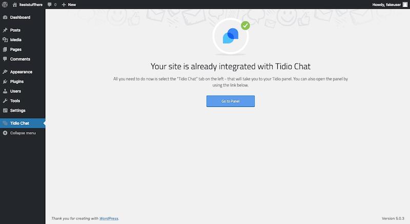 Tidio WordPress