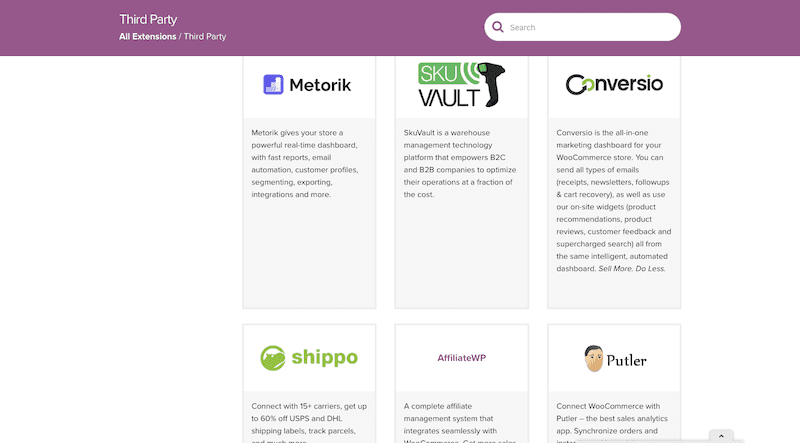 WooCommerce Third Party