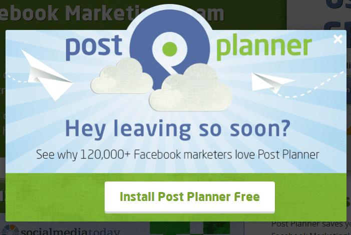 PostPlanner - download popup