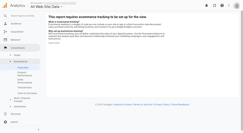 Google Analytics dashboard for WooCommerce.