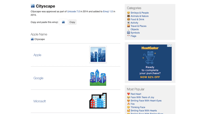Emojipedia Examples