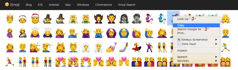 Get Emoji Copy