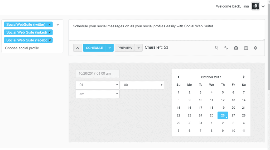 Social Web Suite scheduler