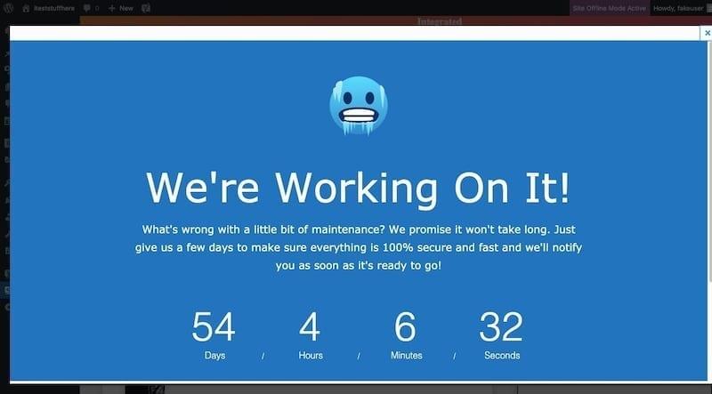 Site Offline Preview