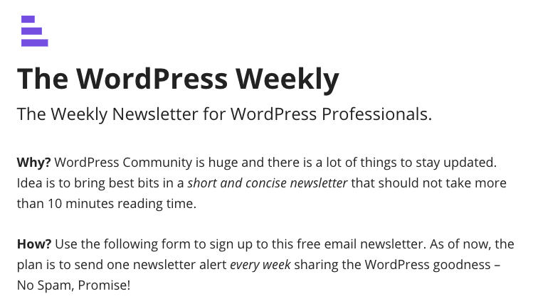 The WP Weekly 2