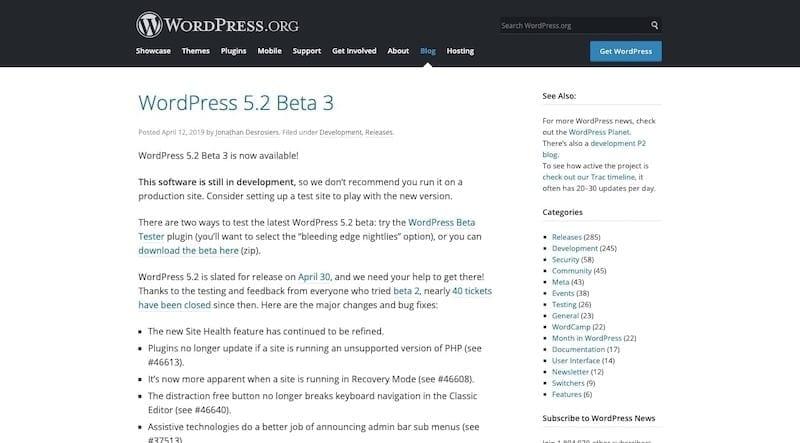 news on WordPress