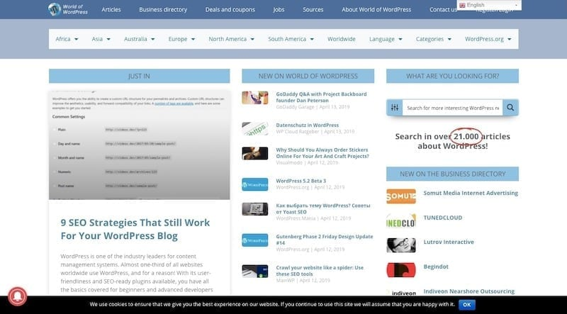 World of WordPress Blog
