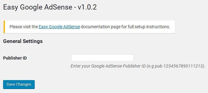 easy google adsense settings