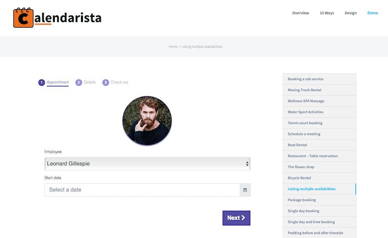 Calderista booking plugins 2