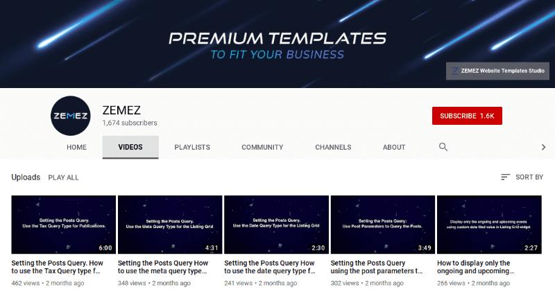 Zemez premium templates