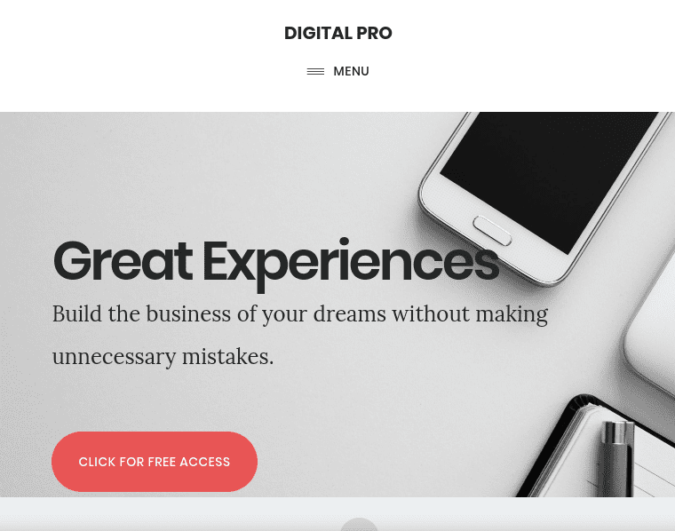 Digital Pro Responsive Theme for Business